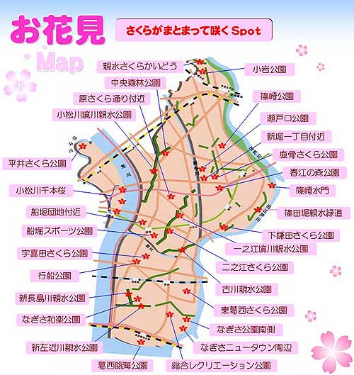 江戸川区お花見マップ