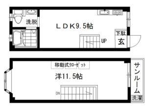 2F/3F間取図